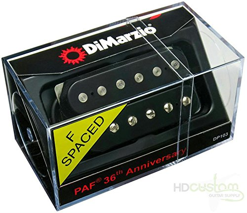 DiMarzio PAF DP103 Humbucker 36th Anniversary Guitar Pickup Black F-Spaced