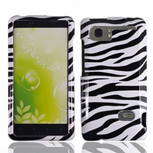 HTC AT&T Vivid 4G LTE Accessory - Wild Zebra Designer Protective Hard Case Cover + MyDroid Magnet