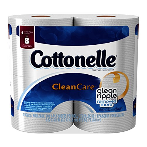 Cottonelle Cleancare Toilet Paper Double Roll, 4 Count