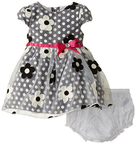 Sweet Heart Rose Baby Girls' Embroidered Organza Satin Occasion Dress