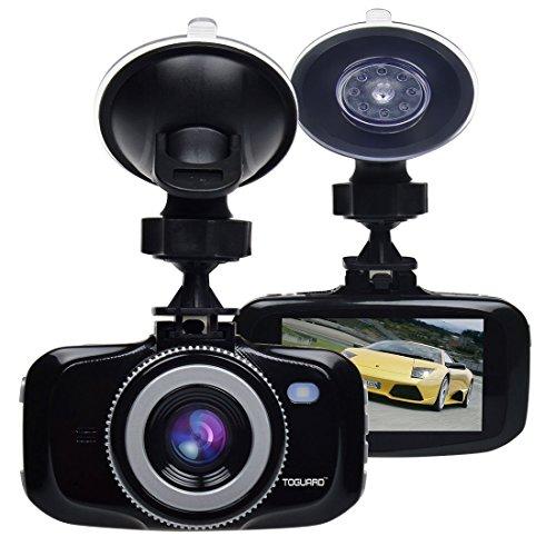 Toguard Advanced F2.0 Big Eye Dashboard Camera Black with 32GB Micro SD Card- Full HD 1080P H.264, 2.7 LCD, G-Sensor, LDWS, FCWS, Parking Monitor, Motion Detection, Support Max 64GB micro SD card