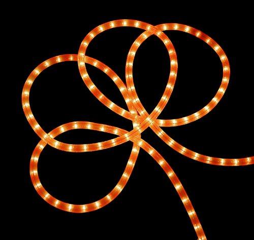 18' Neon Orange Indoor/Outdoor Christmas Rope Lights