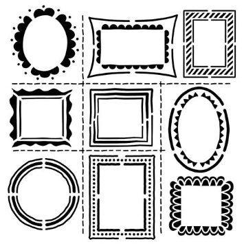 Crafters Workshop 1607 Crafters Workshop Template 12X12-Hand Drawn Frames