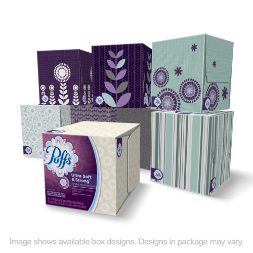 PUFFS FACIAL TISSUE ULTRA SOFT & STRONG CUBES 2 PLY 56 SHEETS PER BOX 2 PACK