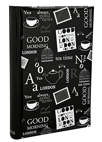 Arpan Large Text Design 6x4 Black Photo Album Slip In Case Memo Album For 300 Photos