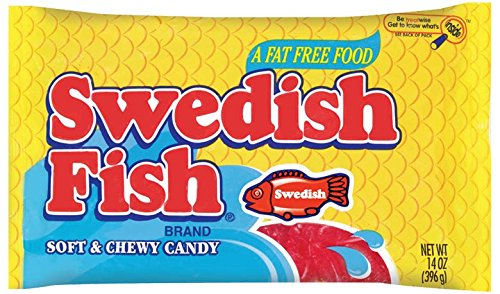 Swedish Fish Red Laydown Bag, 14 oz (Pack of 6)