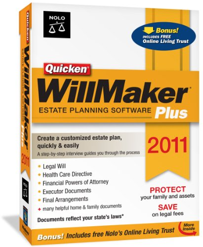 Quicken WillMaker Plus 2011 [Old Version]