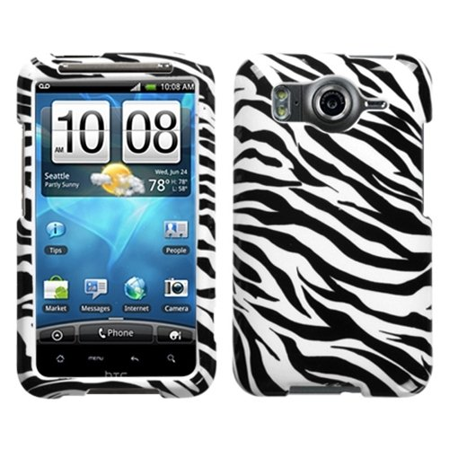 MYBAT HTCINS4GHPCIM056NP Slim and Stylish Protective Case for HTC Inspire 4G - 1 Pack - Retail Packaging - Zebra Skin