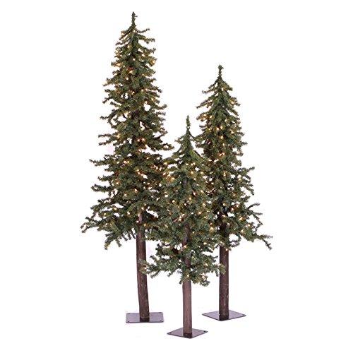Vickerman Pre-Lit Natural Alpine Tree with 35 Clear Mini Lights