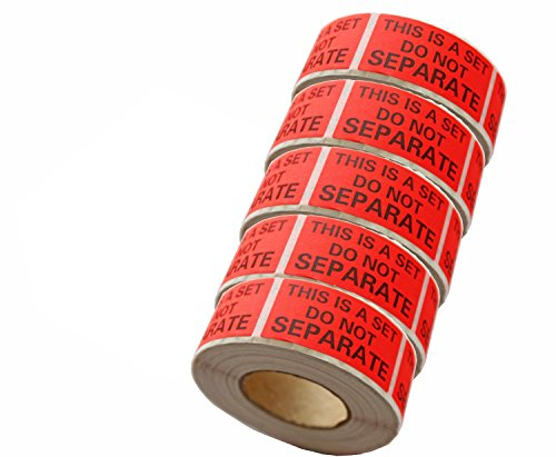 5 Rolls/2500 Labels - This Is a Set Do Not Separate Stickers 1 X 2 Bulk Pack