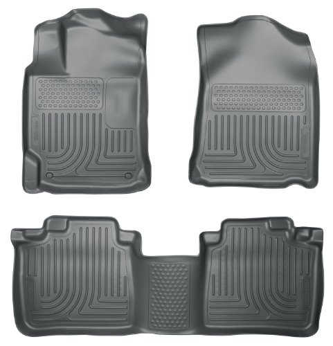 Husky Liners Custom Fit WeatherBeater Molded Front and Second Seat Floor Liner for Select Toyota Camry Models (Grey)