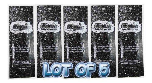 Lot of 5 Sample Packets Designer Skin Obsidian 30x Bronzer Tanning Lotion