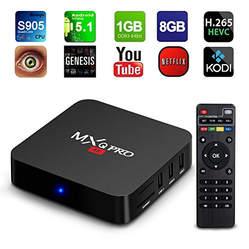 NinkBox MXQ Pro Android TV Box Amlogic S905 Android 5.1 Lollipop OS WiFi HDMI DLNA Streaming Media Players 1G 8G