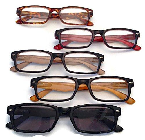 Prescription Reading Glasses, 5 pairs