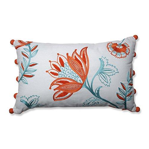 Pillow Perfect Harper Citrus-White Rectangular Throw Pillow