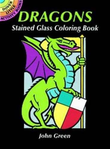 Dover Publications-Dragons Stained Glass Coloring Book (Dover Stained Glass Coloring Book)