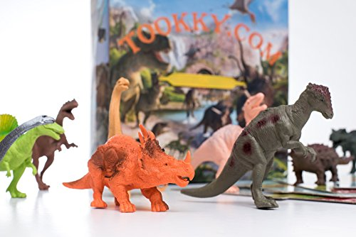 Dinosaur Games:12 Dinosaur Toys- Dinosaurs Toys-Box-Play Mat Board Game-Trivia E-Book- AMAZING Gift Idea