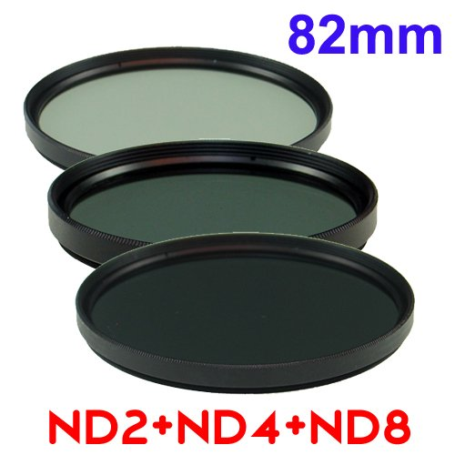 82mm Double Thread Neutral Density ND2 + ND4 + ND8 Filter