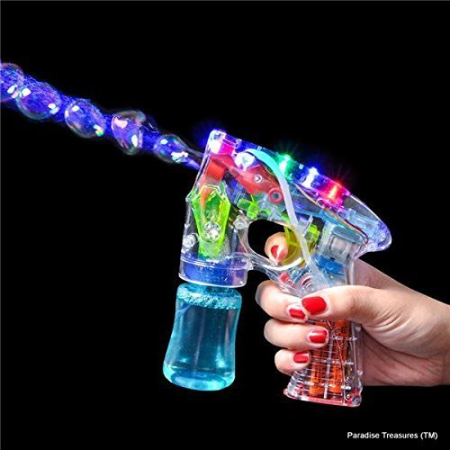 Paradise Treasures (TM) Light-Up LED Toy Bubble Gun (Colors May Vary) (US Seller)