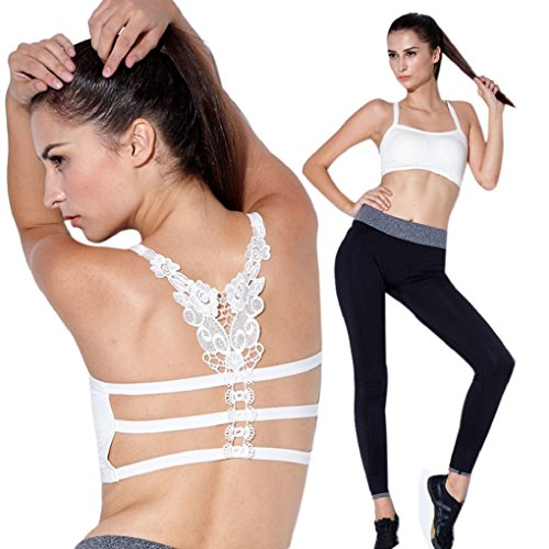 Sandistore Sexy Women Strap Bandage Wrapped Chest Crop Tops Tank Crop Top (White)