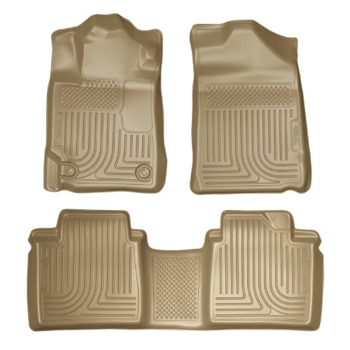 Husky Liners Custom Fit Front and Second Seat Floor Liner Set for Select Toyota Camry Models (Tan)