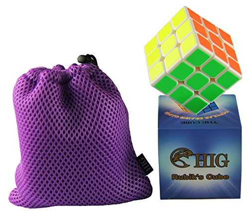 HIG Rubiks Cube is An interesting Puzzle Cube - 3 x 3 Speed Cube(White)