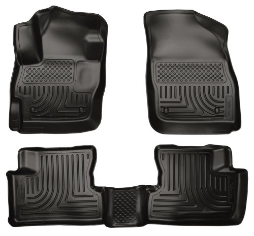 Husky Liners Custom Fit WeatherBeater Molded Front and Second Seat Floor Liner for Select Mazda 3 Models (Black)