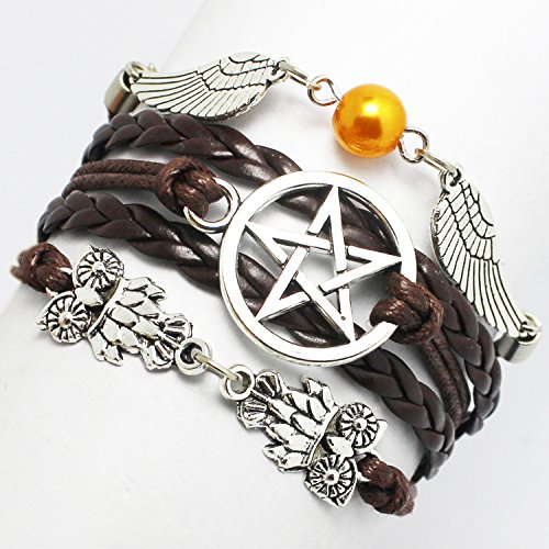 The New Five-pointed Star Fashion Owl Wing Wings Angel Woven Bracelet