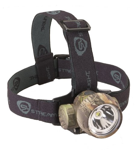 Streamlight 61081 Trident HP Headlamp with 1-White and 3-Green LEDS, Alkaline Batteries and Rubber/Elastic Straps, Realtree Hardwoods Green Camo