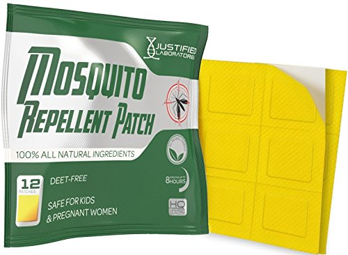 Mosquito Repellent Patch Infused With All Natural Lemon Eucalyptus and Essential Oils - DEET Free Non Toxic - For Kids and Adults