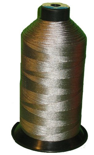 Item4ever® Grey Gray Bonded Nylon Sewing Thread #92 T90 1850 Yard for Outdoor, Leather, Upholstery