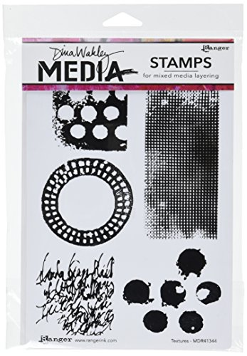 Ranger Dina Wakley Media Cling Stamps, 6 by 9-Inch, Textures
