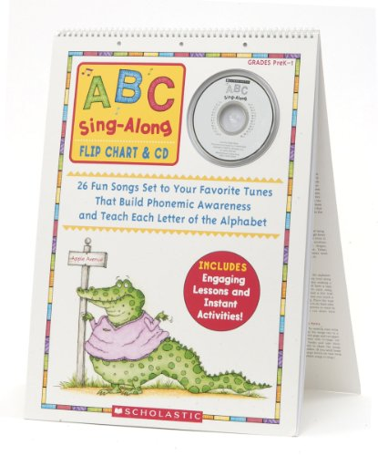 ABC Sing-Along Flip Chart: 26 Fun Songs Set to Your Favorite Tunes That Build Phonemic Awareness and Teach Each Letter of the Alphabet [With CD (Audio