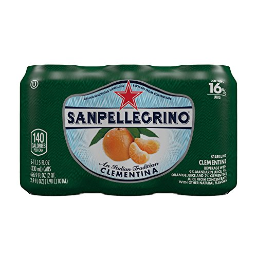 San Pellegrino Sparkling Fruit Beverages, Clementina/Clementine 11.15-ounce cans (Pack of 6)