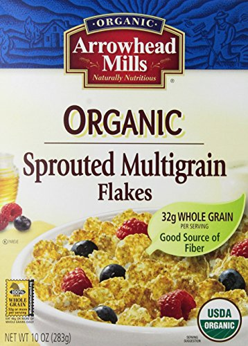 Arrowhead Mills Organic Cereal, Sprouted Multigrain Flakes, 10 Ounce (Pack of 12)