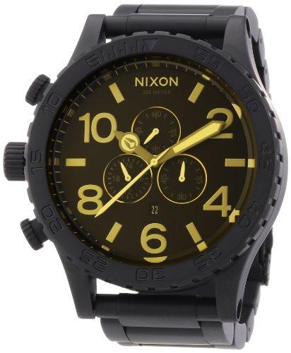 Nixon - 51-30 Chrono - Matte Black/Orange Tint