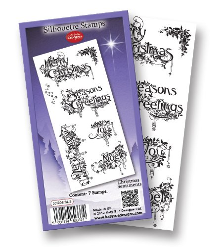 Silhouette Stamp - Christmas Sentiments