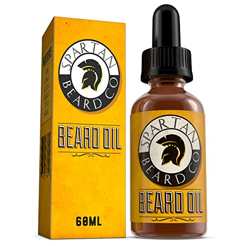 Beard Oil - beard conditioning oil by Spartan Beard Co. A fragrance free blend of premium essential oils to give a more nourished, thicker beard.Best gift for any man.Nourishes And Thickens Hair Giving Shine Without Leaving A Greasy Residue - Stop Itching Fast And Condition Your Beard Now - 100% Satisfaction Guarantee