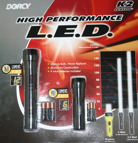 Dorcy 3 Watt & 3.9 Watt - Flashlights Combo Pack