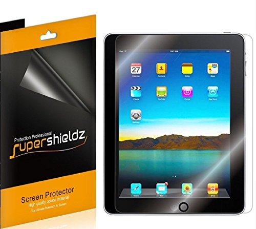 [3-Pack] SUPERSHIELDZ- High Definition Clear Screen Protector For Apple iPad (1st Generation) + Lifetime Replacements Warranty [3-PACK] - Retail Packaging