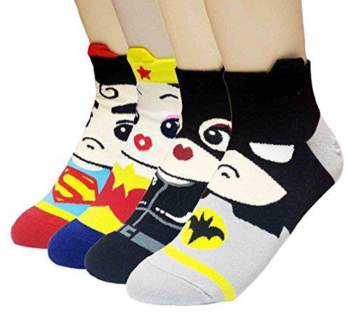 JJMax Women's Superheroes and Villains Cute Cartoon Hero Socks Set