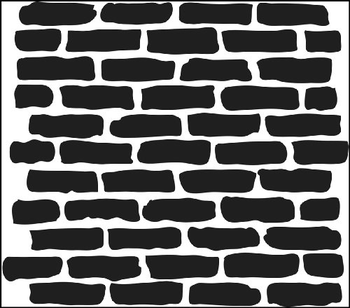 Crafters Workshop Crafter's Workshop Template, 12 by 12-Inch, Bricks