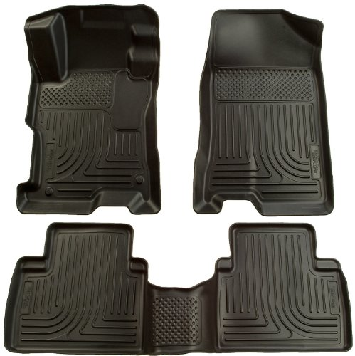 Husky Liners Custom Fit Front and Second Seat Floor Liner Set for Select Toyota/Pontiac Models (Black)