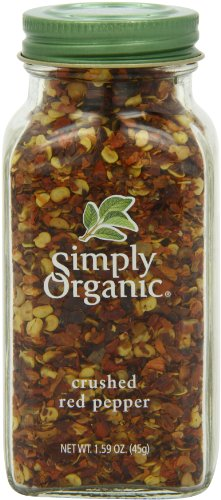 Simply Organic Red Pepper Crushed Certified Organic, 1.59-Ounce Containers (Pack of 3)
