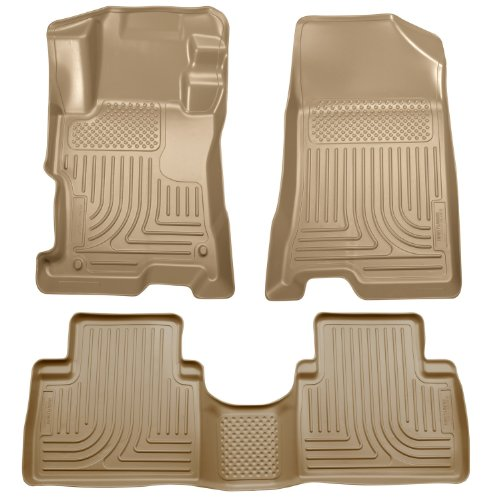 Husky Liners Custom Fit Front and Second Seat Floor Liner Set for Select Honda Accord Models (Tan)
