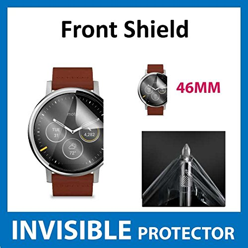 Motorola Moto 360 46mm (2nd Gen) Smart Watch Front INVISIBLE Screen Protector (Front Shield included) Military Grade Protection Exclusive to ACE CASE