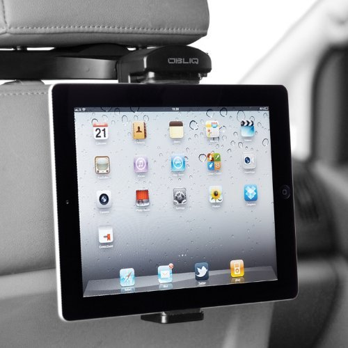 [Black ] Obliq HR One Touch Headrest Mount Universal Tablet Car Mount Holder (for 8 - 10.1 Tablets) iPad Air, iPad 4, Galaxy Tab Pro 8.9, Galaxy Note Pro 8.9, Nexus 7, Microsoft Surface, Kindle Fire HD and more