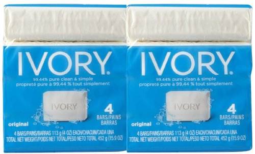 Ivory Bar Soap - Original - 4 oz - 4 ct - 2 pk