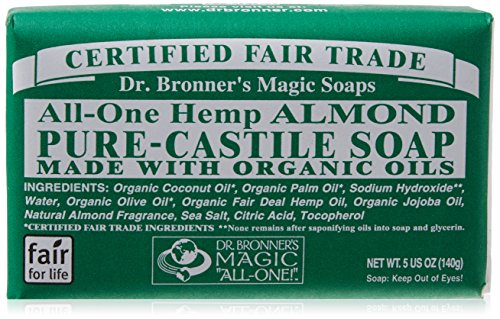Dr Bronner All-One Hemp Almond Pure-Castile Soap Bar 140g