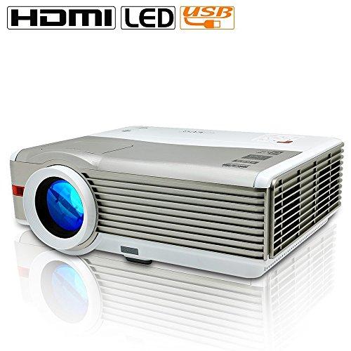 EUG X99 HD Projector Hom Cinema 4200 Lumen WXGA 1080p Video TV Projector 3D DVD HDMI USB VGA Audio for Laptop PC iPhone Mac PS4 Movie Gaming Outdoor Theater 1280800 Native Resolution